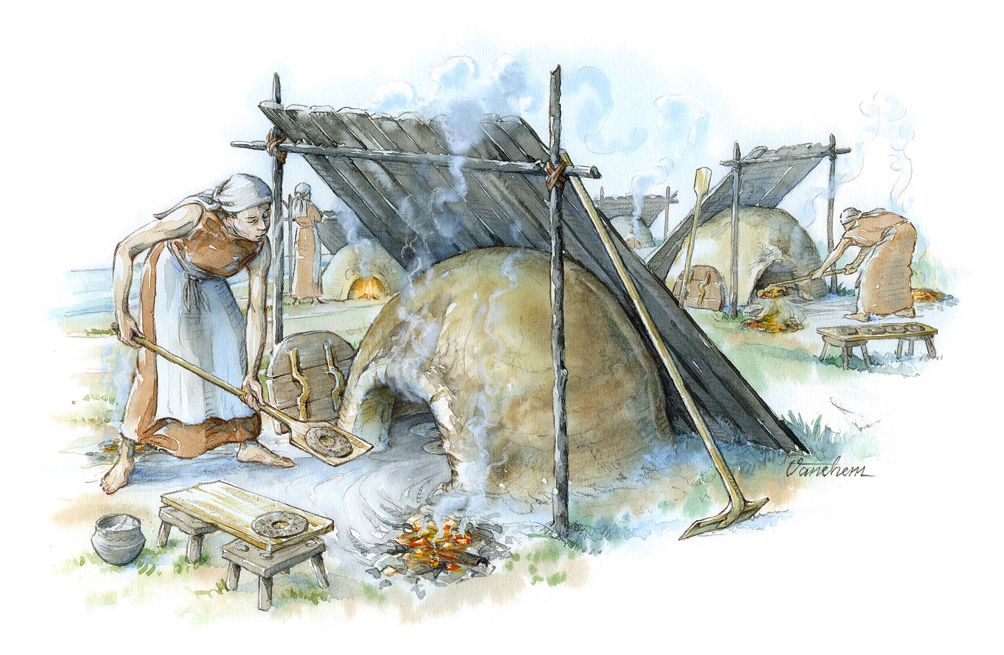 Iron Age bread ovens in Uppakra, Sweden