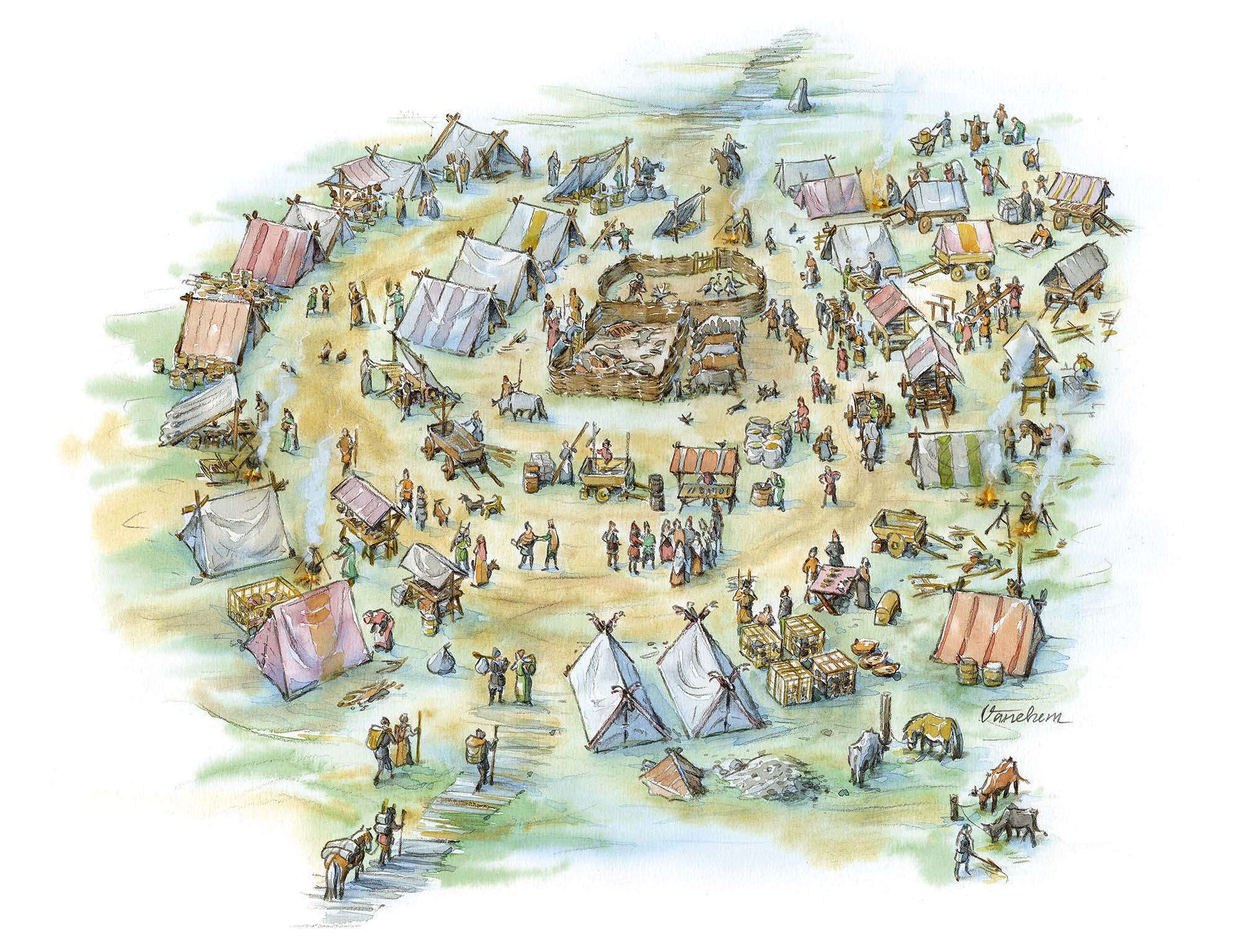 Market place in Iron Age Uppakra, Sweden