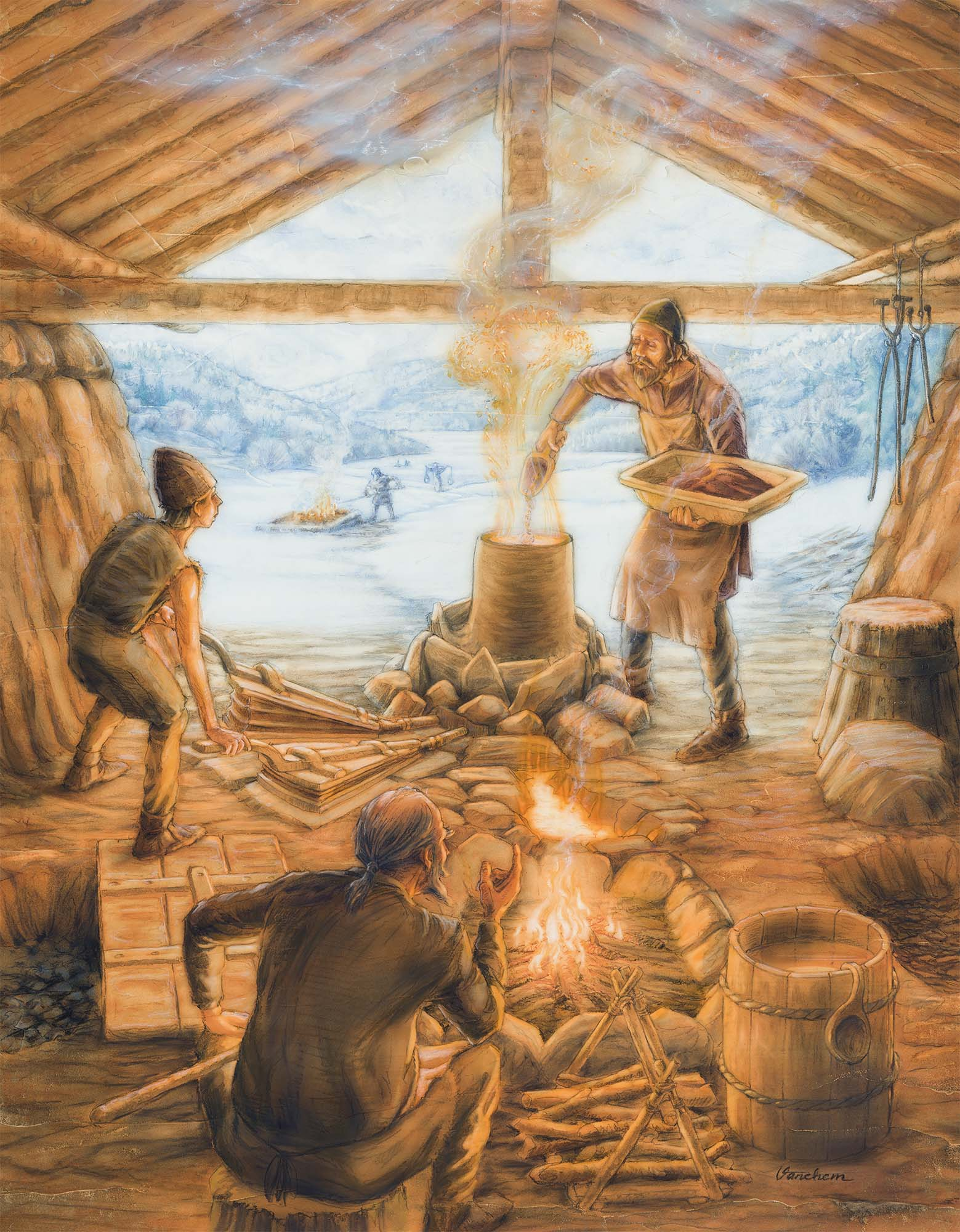 Viking Age iron extraction (Client: Aust Agder Museum og Arkiv in Arendal, Norway).
