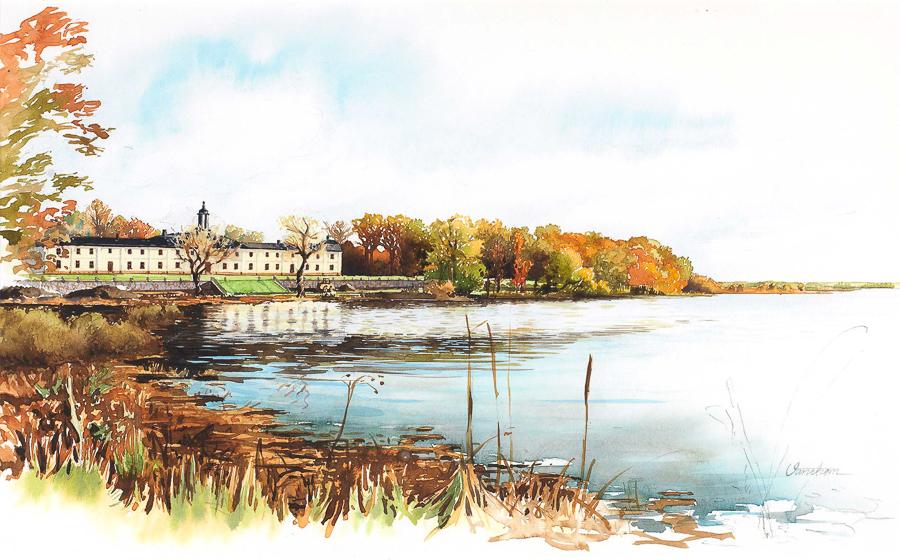 The Svartsjo castle