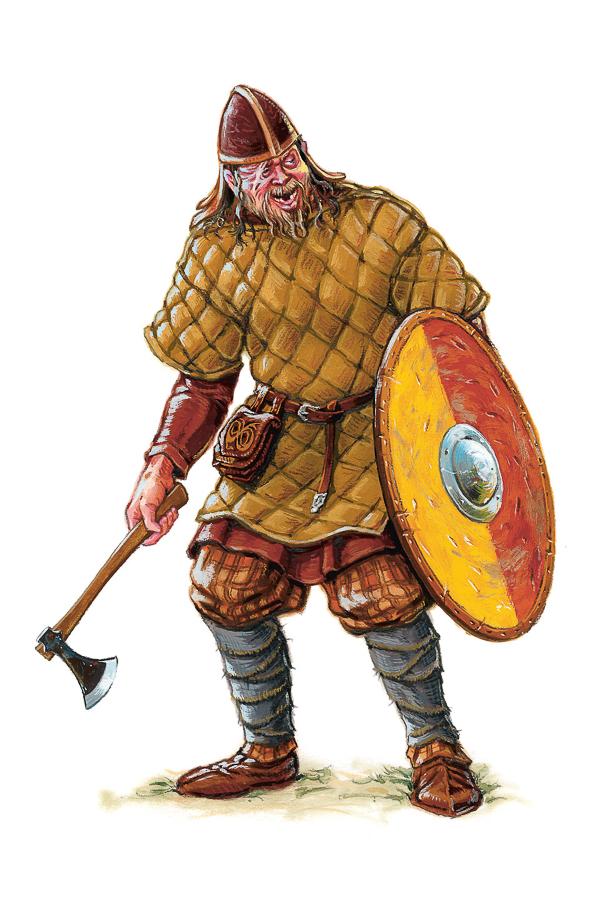 Viking Age huscarl (Client: Bonnier Carlsen Publishing House).