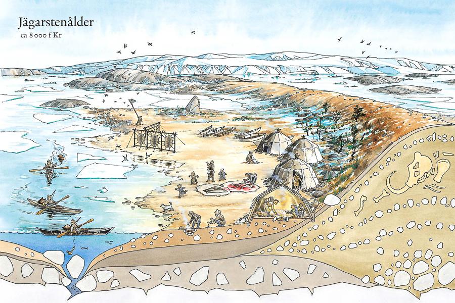 The Palaeolithic Age(Client: Natur & Kultur, Education Media, Sweden).