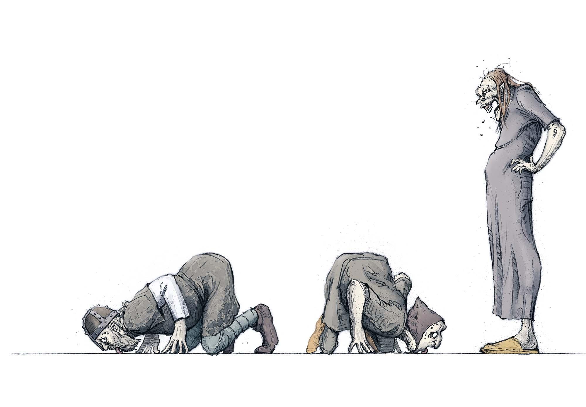 The Stranger's Grave: Demonstration of power (Client: Bonnier Carlsen Publishing House, Sweden).