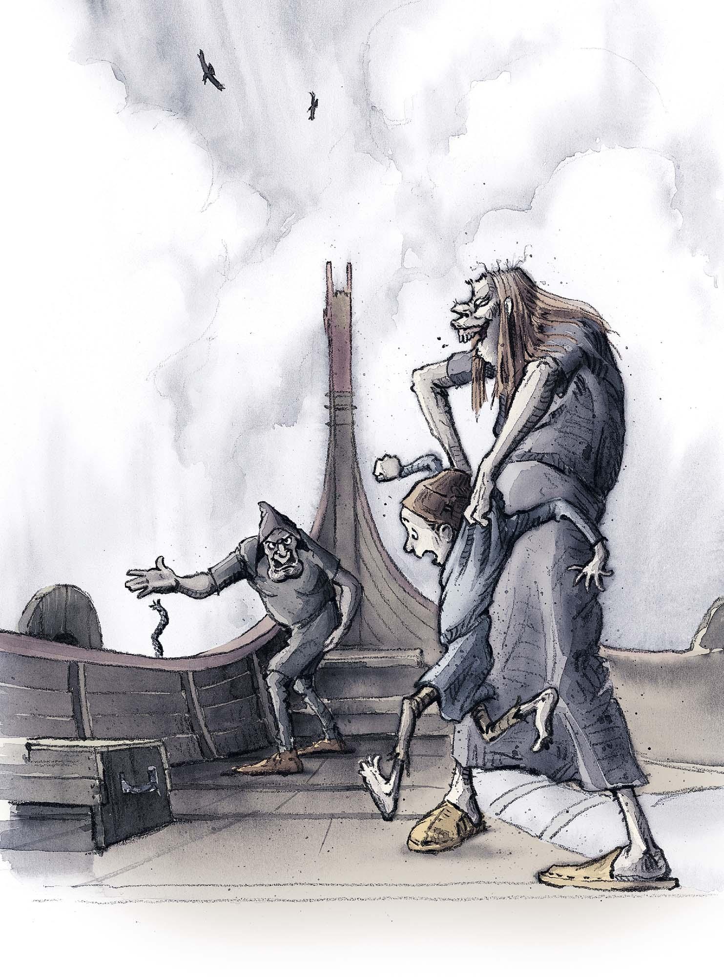 The Stranger's Grave: Dropping off Halvdan's dog (Client: Bonnier Carlsen Publishing House, Sweden).