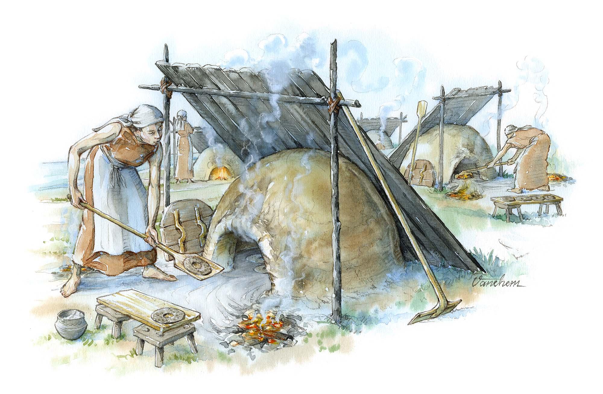 Iron Age bread ovens in Uppakra, Sweden (Client: Uppåkra Arkeologiskt Center)