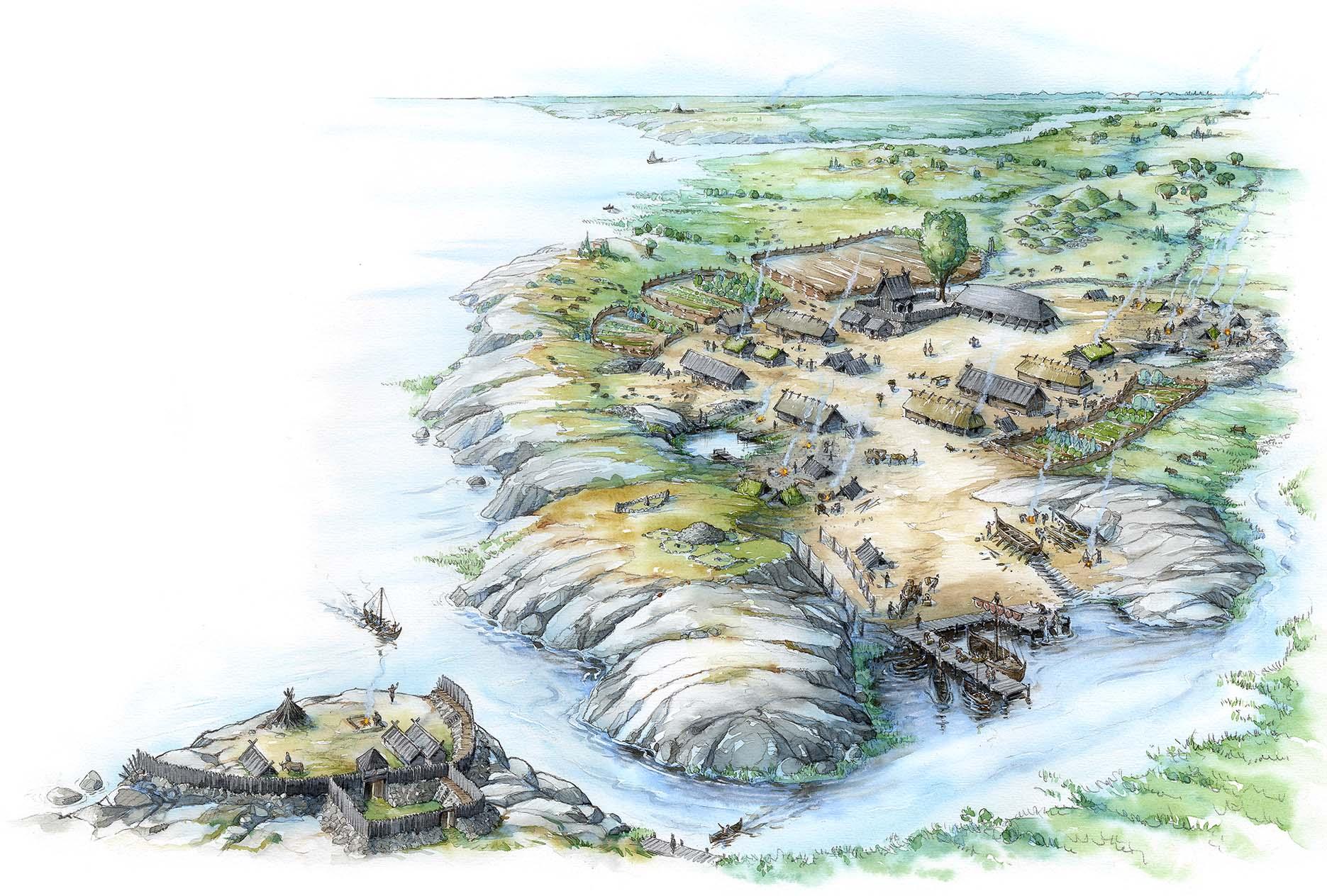 A Viking Age village (Client: Natur & Kultur Foundation,  educational media)