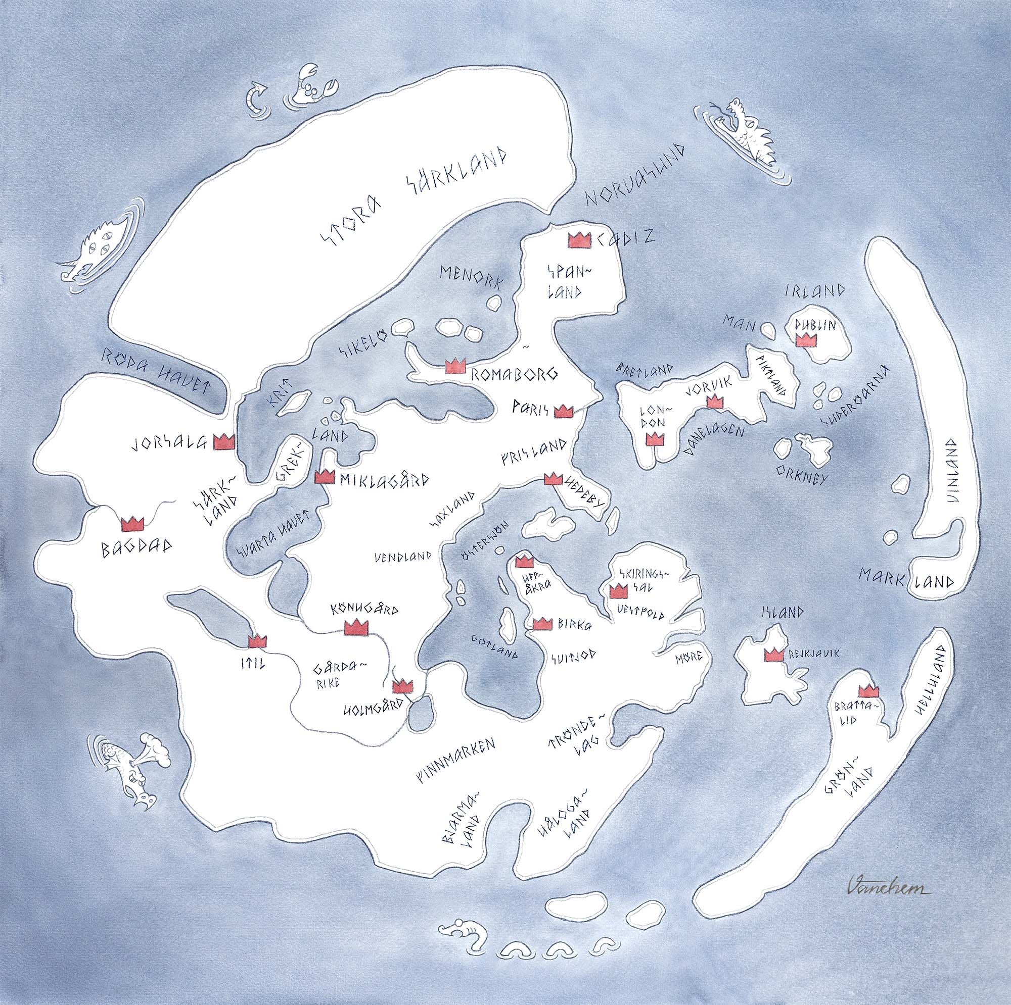 A Viking Age perception of the World (Client: Board game for Bonito)