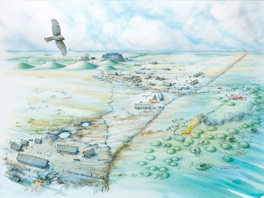 Gamla Uppsala, 7th century overview (Client: Norstedts Publishing house)