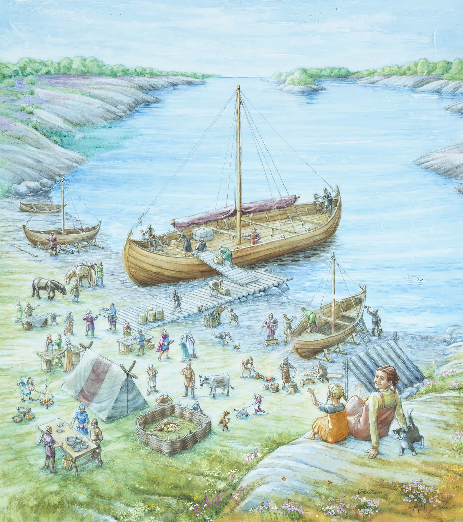 A Viking Age trading place on the south coast of Norway (Client: Aust Agder Museum og Arkiv in Arendal, Norway).