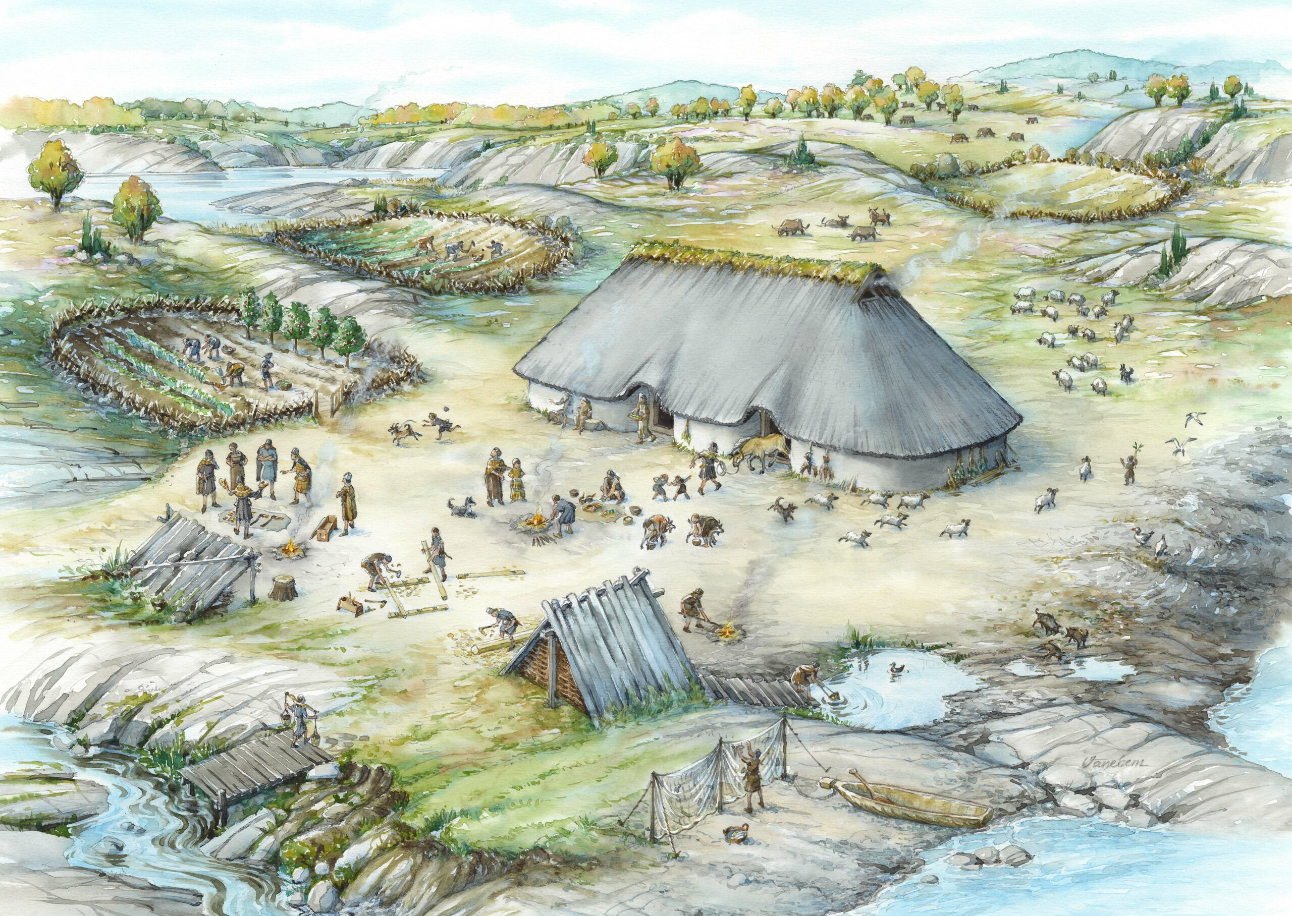 Bronze Age settlement in the south of Norway (Client: Aust Agder Museum og Arkiv in Arendal, Norway).