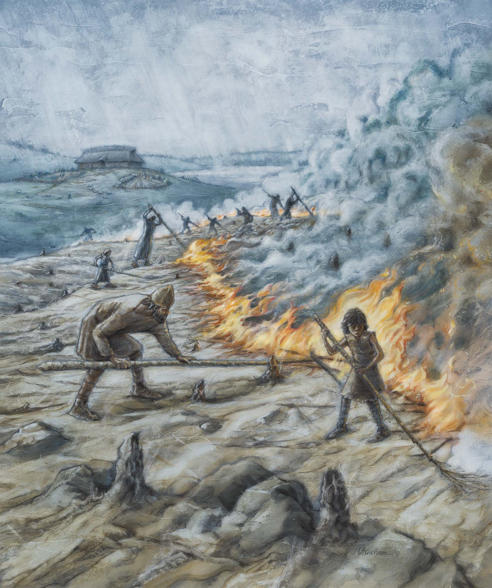 Burn-beating farmers during Neolithicum in the south of Norway (Client: Aust Agder Museum og Arkiv in Arendal, Norway).