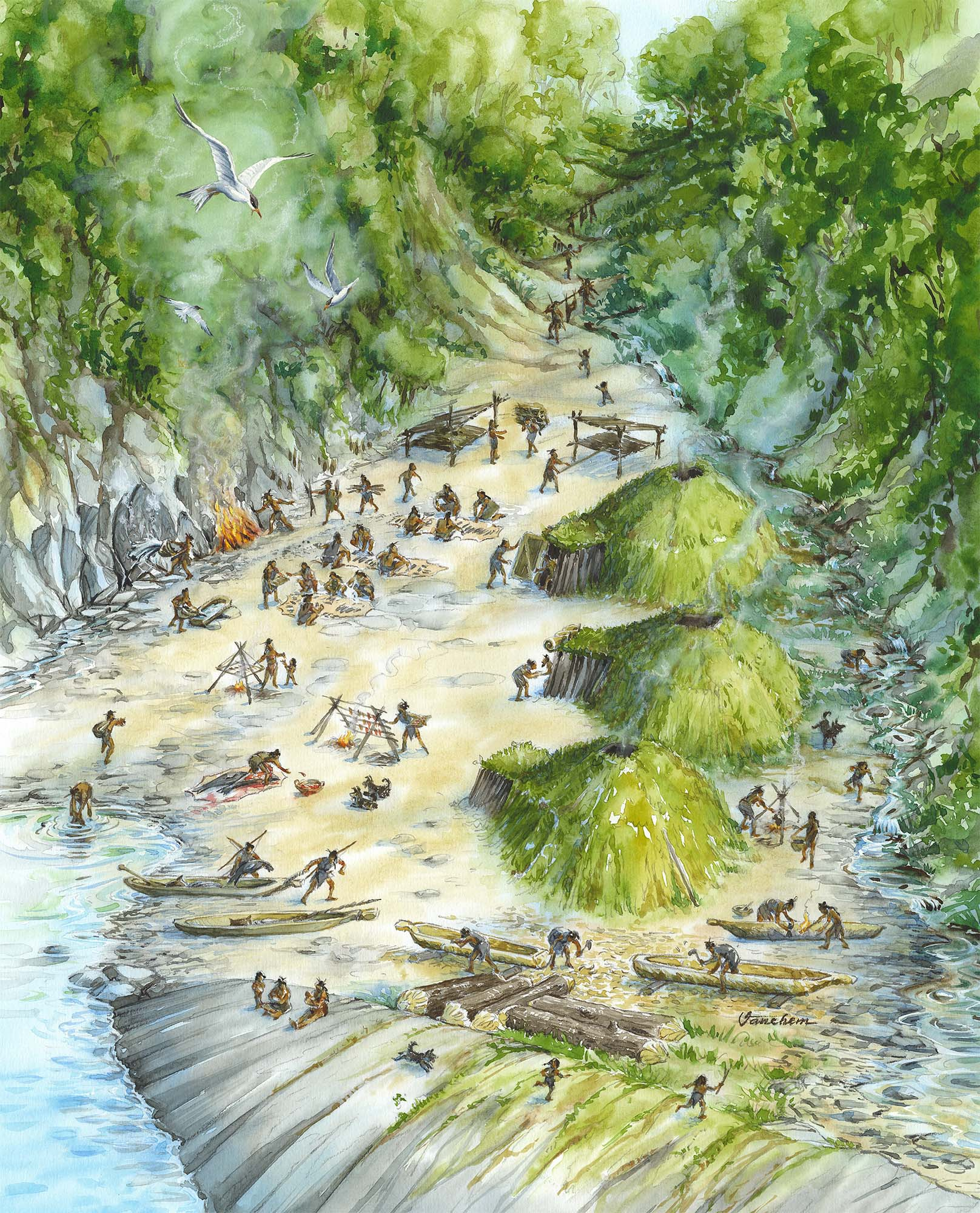 Mesolithic manufacturing site on the south coast of Norway (Client: Aust Agder Museum og Arkiv in Arendal, Norway).