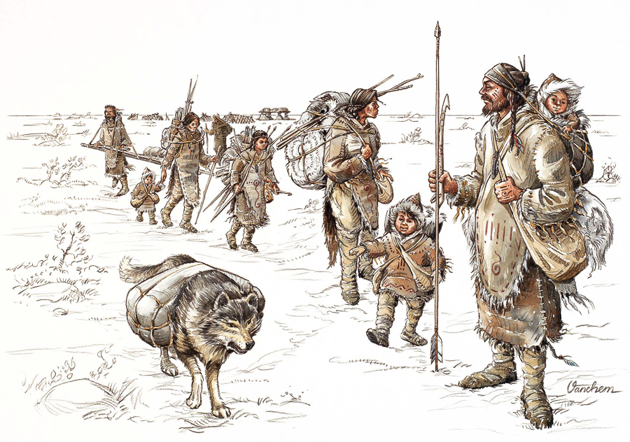 Mesolithic hunters gatherers of Doggerland (Client: Ostfriesische Landschaft Museum, Germany).