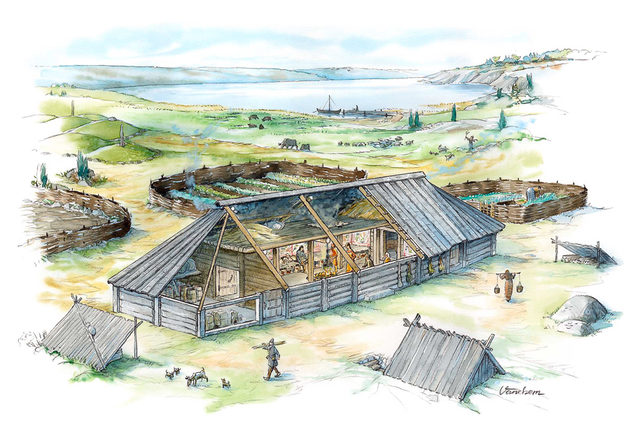 A common Viking Age farmstead (Client: Dalarnas Museum, Sweden).