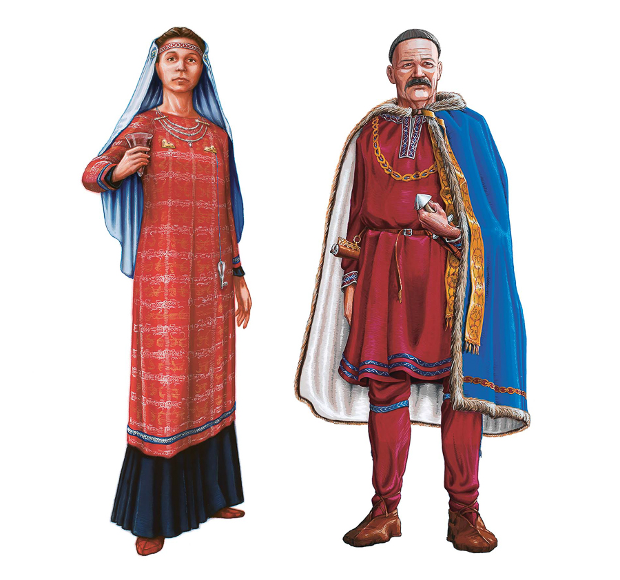 Viking Age aristocrats  (Client: The Swedish History Museum).