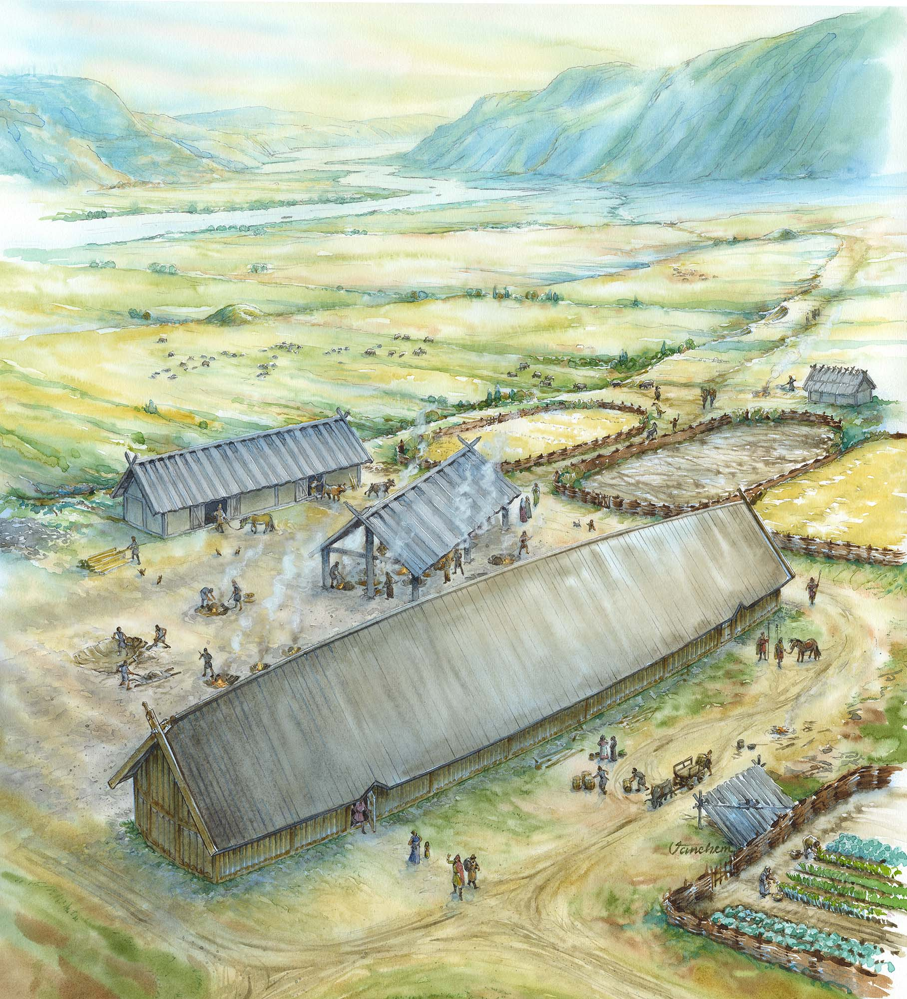 Roman Iron Age settlement in the south of Norway (Client: Aust Agder Museum og Arkiv in Arendal, Norway).