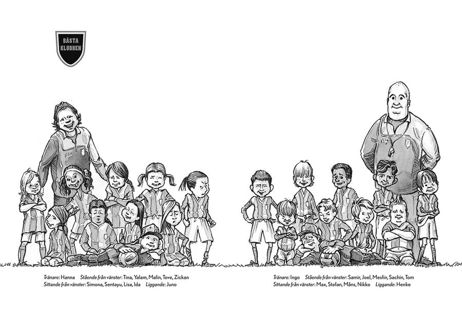 The Best Club  - Team lineups (Client: Bonnier Carlsen Publishing House, Sweden).