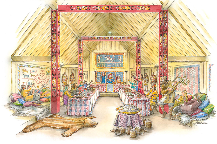 Darkride stage design for the End Feast scene (Client: The Viking Museum).